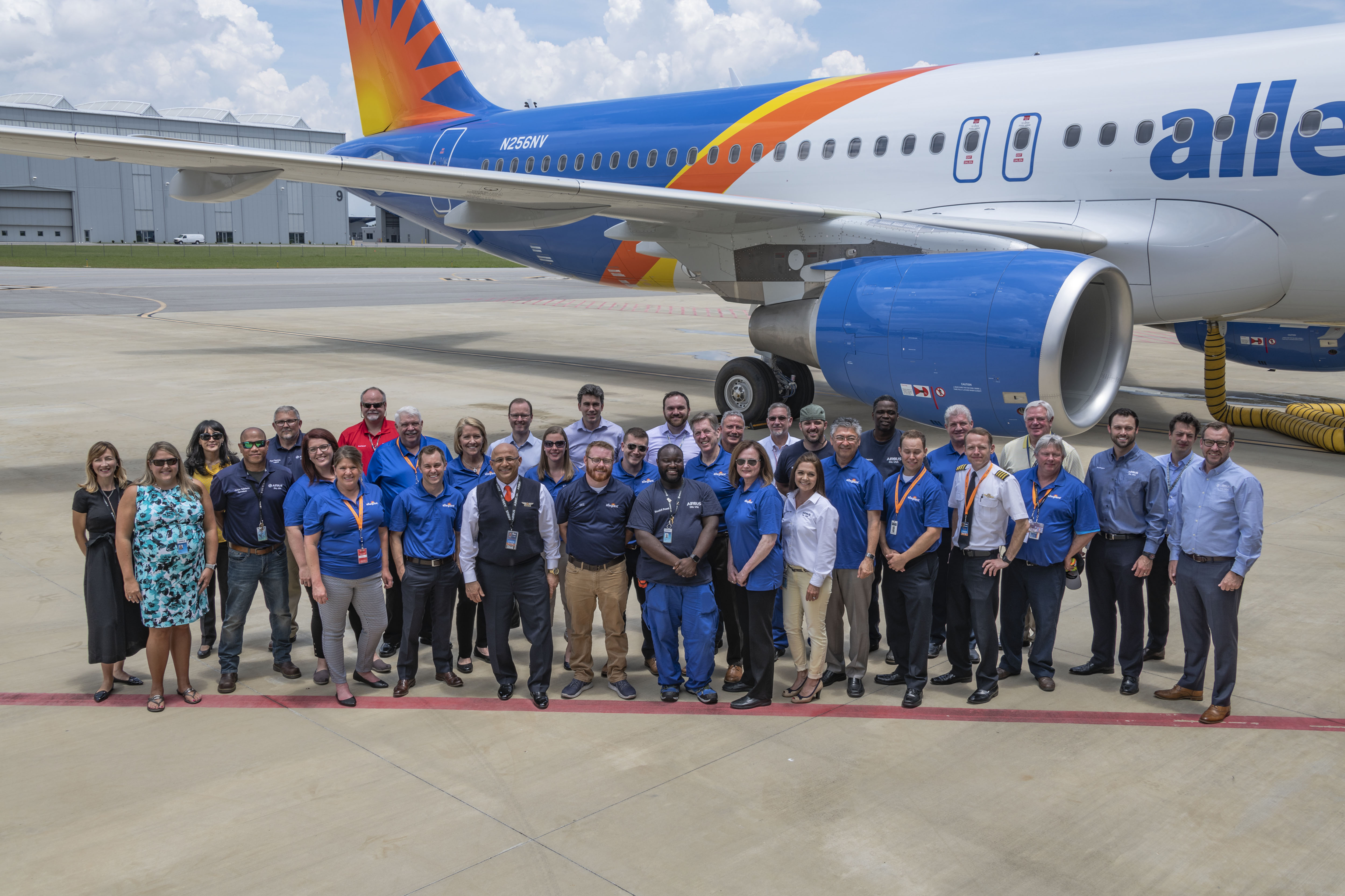 Allegiant receives its first U S -produced Airbus aircraft - MRO Global